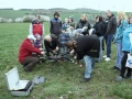 Příprava před vzletem dronu