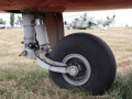 Airplane front undercarriage wheel