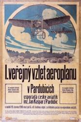 1.veřejný vzlet v Pardubicích-plakát